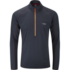 Rab Interval - Camiseta de manga larga Hombre - negro